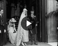 The Duke of Marlborough, John Albert Spencer Churchill, marries Gladys Deacon (1921) - British Pathé     British Pathé