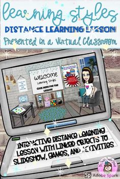 This is a self-directed Learning Styles Lesson for asynchronous distance learning. The lesson is presented in an interactive, virtual Google slides classroom. It includes a learning styles inventory, study tips and activities for visual, auditory, and kinesthetic learners. #LearningStyle #DistanceLearningTpT #virtualclassroom #distancelearning #bitmojiclassroom  #LearningStylesInventory #StudySkills #SuperPower #StudyHabits #StudyTips #CreativeCounselor #CreativeCounselingResources Learning Style Inventory, Learning Styles, Group Counseling, School Counseling, Elementary School Counselor, Elementary Schools, Study Skills, Study Tips, Superpower