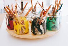 DIY Drehscheibe für Malsachen - endlich Ordnung für Stifte & co Diy And Crafts, Arts And Crafts, Multiplication For Kids, Craft Room Storage, Painting For Kids, Kids And Parenting, Montessori, Creative, Simple