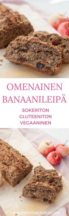 Omenabanaanileipä | Sokeriton leivonta | Gluteeniton leivonta | Resepti