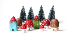 Little mushroom houses by rodi, via Flickr