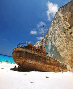 "Navagio, Zakynthos, Greece - ""Panagiotis Shipwreck"""
