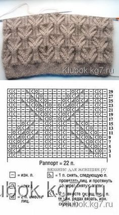 Muster mit schönen Details und Bäumen - The Effective Pictures We Offer You About knitting techniques granny squares A quality picture can tell you many thin Lace Knitting Patterns, Knitting Stiches, Cable Knitting, Knitting Charts, Easy Knitting, Knitting Designs, Crochet Stitches, Stitch Patterns, Knitting Yarn