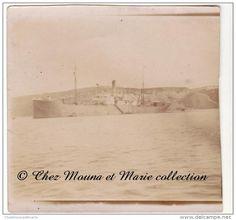 1919 - ALGERIE - LE MONT VENTOUX EN RADE D ORAN - NAVIRE BATEAU - PHOTO MILITAIRE 6 X 6 CM