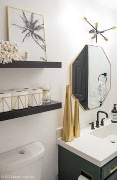 bathroom renovations Modern Guest Bathroom Renovation on a Budget One Room Challenge REVEAL Top Bathroom Design, Small Bathroom Decor, Bathroom Decor, Bathroom Decor Apartment, Guest Bathroom Renovation, Modern Bathroom Decor, Bathroom Interior Design, Bathroom Renovations, Bathroom Design