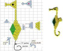 PEARLS - BEADS / PERLES / PARELS - Seed Bead Seahorse Pattern