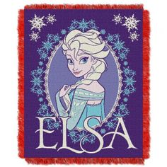 """Disney's Frozen Heart""  Triple Woven Jacquard Throw (48""x60"")"". This loom woven triple layer tapestry throw blanket is fringed on all 4 sides. This blanket can be used at the game; on a picnic; in the bedroom; or cuddle under it in the den while watching the game. Use it as a room accent; bed covering; throw blanket or wall hanging. They are easy to care for; and are machine washable and dryable. This blanket is made of 100% acrylic. Actual item will vary from image. Availability: Usually…"