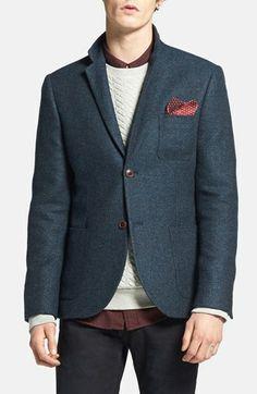 Topman Tweed Wool Blend Blazer available at #Nordstrom