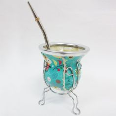 Argentina Mate Gourd Yerba Tea Cup Glass With Straw Bombilla Kit Diet Drink 2425