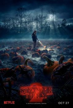 Stranger Things Season 2 - Chief Hopper in the Pumpkin Patch