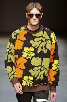 70s colour clash: A/W 14/15 young men's catwalk trend flash