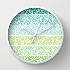 Zen Pebbles Wall Clock by Pom Graphic Design  - $30.00 #home #forthehome