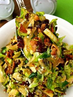 Bacon-Bleu Cranberry Brussels Sprouts ~ The Complete Savorist