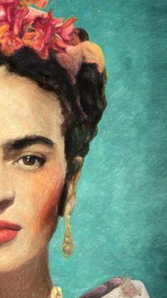 Frida Frida in 2020 Frida Kahlo Artwork, Frida Paintings, Frida Kahlo Portraits, Frida Art, Famous Artists Paintings, Art Sketches, Art Drawings, Arte Van Gogh, Motif Art Deco