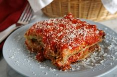 17 Day Diet Eggplant Parmesan- I also make just the eggplant part and eat it every single day as a snack while on this diet. ADDICTING and a great substitute for carbs