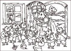 Maerchen Rumpelstilzchen 10 Der Wolf Und Die 7 Geissleinkl Malbuch Vorlagen Marchen Basteln Mandala Ausmalen