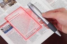 This pen scans, writes, and records. It's just like the spy movies!