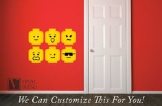 Minifig Heads Emotion Face Wall Decor Vinyl Decal Digital Print Graphic for You…