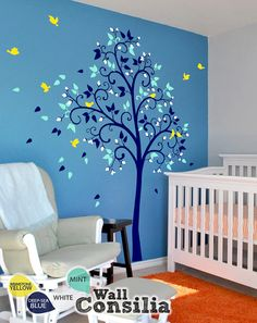 Baby Nursery Wall Decals Blossom Tree Decal  Tree by WallConsilia, $83.00  Love the look, available in different colors?