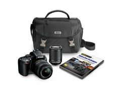 Click the pic to buy - Nikon D5100 16.2 MP CMOS Digital SLR Camera Bundle with 18-55mm and 55-200mm VR AF-S Lenses