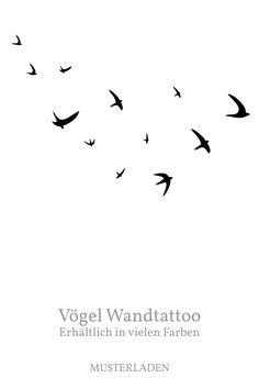 Diese fliegenden Vögel Wandtattoos machen sich gut auf Wänden, Fenstern, Fliesen, Türen oder anderen Oberflächen. Mehr Infos im Shop! Movie Posters, Flying Birds, Swallows, Animal Themes, Tile, Child Room, Projects, Film Poster, Billboard