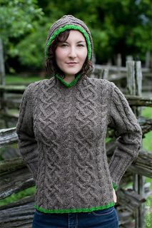 Gwendolyn Pullover Sweater - pattern also has variations for a zip hoodie and a button up cardigan