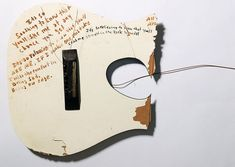 Kurt wrote on anything and everything that came across his path, including the back of his smashed guitar.