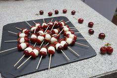 Perlas de mozzarella con #CerezadelJerte #cereza