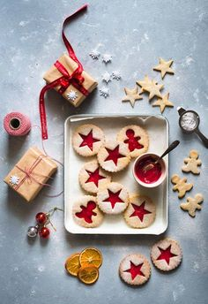 Coconut Linzer Cookies