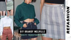 In this thrift flip video I transformed thrifted clothes into Brandy Melville inspired clothing for the fall season. All of these DIY's were super easy . Brandy Melville Fall, Diy Fashion Videos, Give It To Me, How To Make, Dupes, Fall Season, Refashion, Diy Clothes, Thrifting