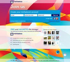 primeiro design do site minhateca.com.br! em breve...