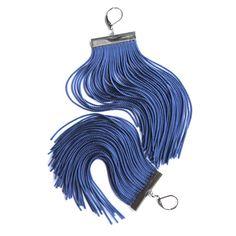 Blue Short Fringe Earrings by lazysundaysshop on Etsy, $20.00