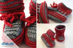Babyschuhe einfach selber stricken – Anleitung Your little ones need new shoes, but you can not find them? The solution: Simply knit baby shoes yourself. Knit Baby Shoes, Knit Baby Dress, Baby Boots, Simply Knitting, How To Start Knitting, Knitting For Beginners, Easy Knitting, Baby Knitting Patterns, Baby Patterns