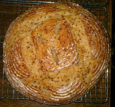 Sourdough GoldenFlax Seed Boule from a Teresa Greenway formula