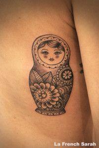Tatouage poupée Russe, Russian Doll Tattoo, Matryoshka Tattoo