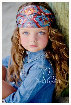 stunning and love the head scarf......this is how Lacy's hair looked at this age, same color and all.