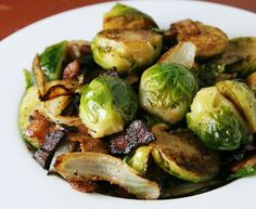 brussels sprouts with bacon - dinner tonight! now COOKED: http://pinterest.com/pin/256986722456781421/