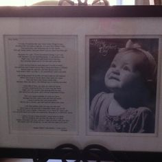 Father's Day Present. A pic and poem from baby's perspective