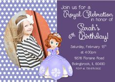 Sofia the first Invitation Princess Sofia by SerendipityPlanning, $8.95