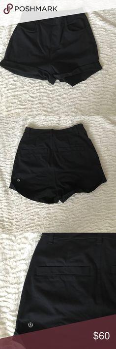 Lululemon Black Club Shorts II Yoga  Sport Size 2 Lululemon Black Club Shorts II Yoga Athletic Run Sport Workout Black Size 2 lululemon athletica Shorts