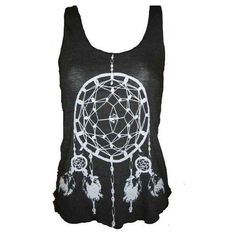 Dreamcatcher Native American Art Tank T-shirt Ladies American Apparel... ($20) ❤ liked on Polyvore featuring tops, shirts, tank tops, tanks, racer back tank, low cut shirts, racerback shirt, low cut tank tops and low cut singlet