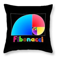 Fibonacci Spiral Throw Pillow for Sale by Herminio Lopez