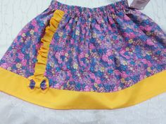 Skirt for girls from cotton. Clothing for girls. Summer skirt in the assembly. skirt, natural fabric