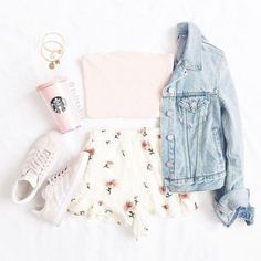 Cute Outfits With Shorts, Cute Teen Outfits, Teenage Girl Outfits, Cute Comfy Outfits, Girls Fashion Clothes, Teen Fashion Outfits, Outfits For Teens, Stylish Outfits, Fashion Ideas
