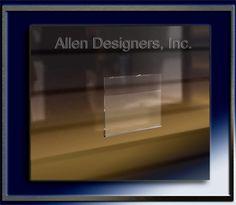 Slatwall Acrylic Accessories - 5.5 inch x 7 inch Multi-Purpose Acrylic Sign Holder ~