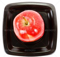 Realistic Graphic DOWNLOAD (.ai, .psd) :: http://hardcast.de/pinterest-itmid-1006646621i.html ... apple on a black plate ...  above, apple, background, black, closeup, color, design, diet, dish, dishware, food, fresh, fruit, healthy, meal, natural, nature, object, organic, plate, ration, red, square, summer, top, vegetarian, view, white  ... Realistic Photo Graphic Print Obejct Business Web Elements Illustration Design Templates ... DOWNLOAD…