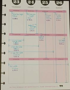 Happy Planner box measurements IMAGE ONLY