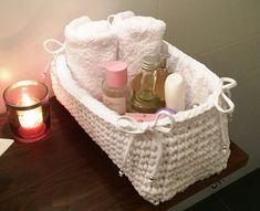 Opbergmand Crochet Home, Crochet Baby, Cool Baby Stuff, Knit Patterns, Needlework, Basket, Embroidery, Knitting, Creative