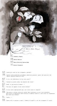NOCTURNO OP.9 di F.Chopin dedicated to Madame  Pleyel (Lady Moke): the nothappy ending love story between F.Berlioz and Madame Pleyel on a Datura Stramonium plant. by valeria montemagni