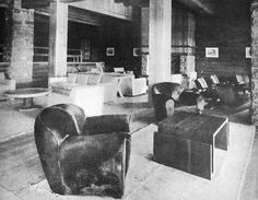 Jean-Michel Frank furniture for the Hotel Llao Llao in Patagonia, 1938